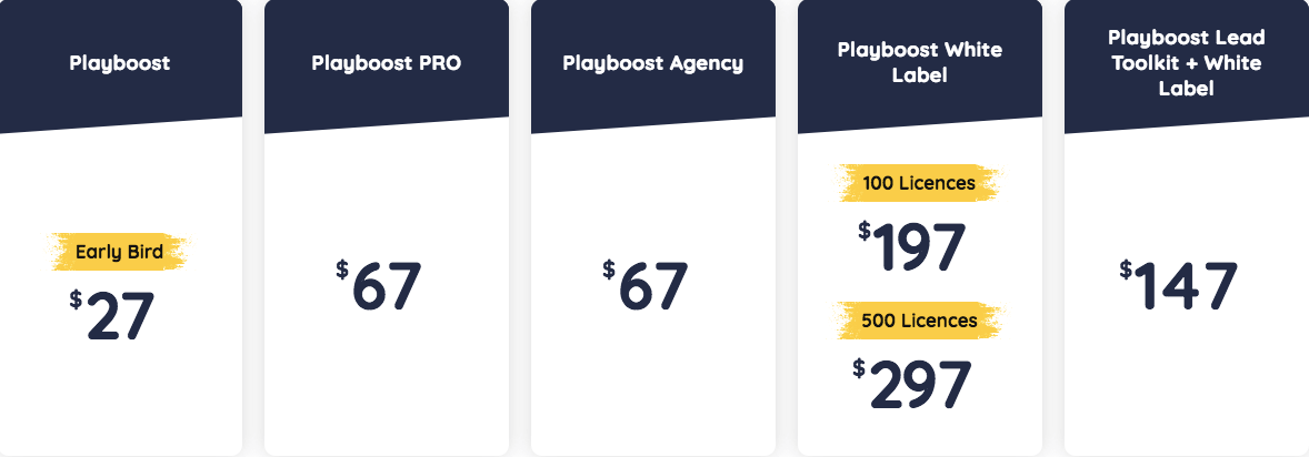 Playboost Funnel